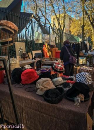 hats vintage clothing paris flea markets