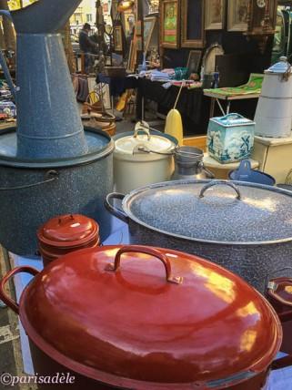 kitchen ware Le Creuset second hand flea markets paris