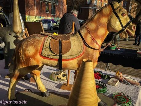 paris vintage toys flea markets rocking horse car boot sale