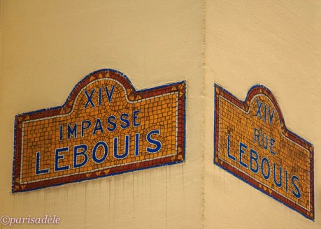 impasse lebouis paris mosaic street sign