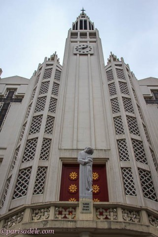 saint jean bosco art deco church paris facade