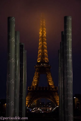 wall of hope paris eiffel tower view