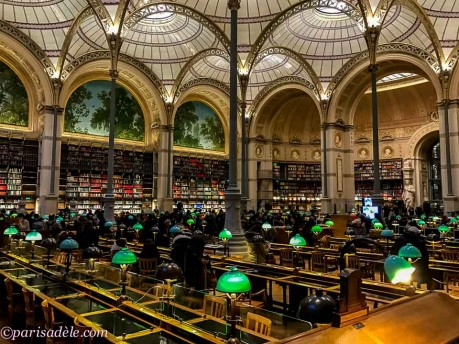 paris library beautiful glass iron ceiling