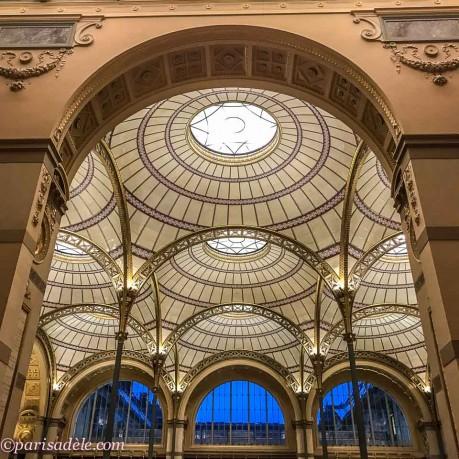 bibliotheque nationale richelieu louvois paris library ceiling salle labrouste