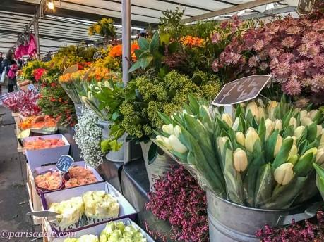 marche bastille paris food markets flowers
