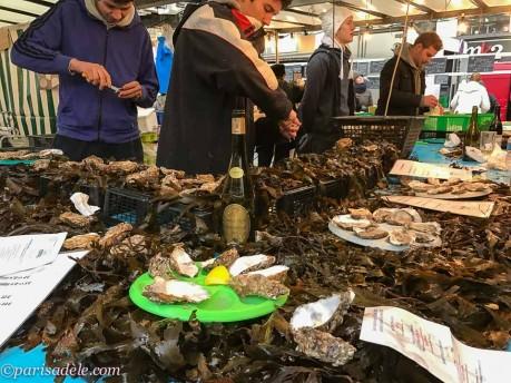 marche bastille markets paris seafood