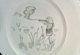 Musée de la Chasse et de la Nature - bird hunter